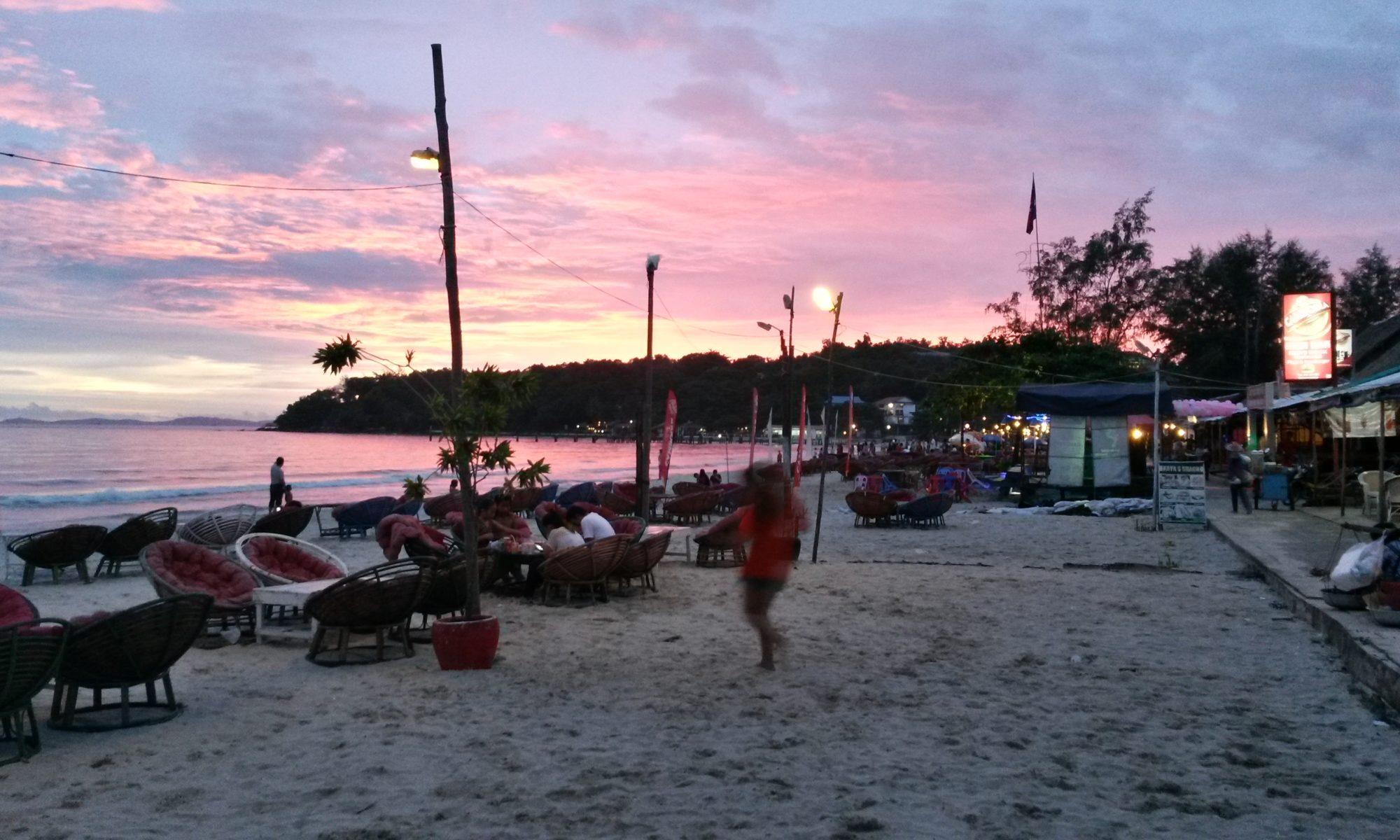 The beach at Sihanoukville
