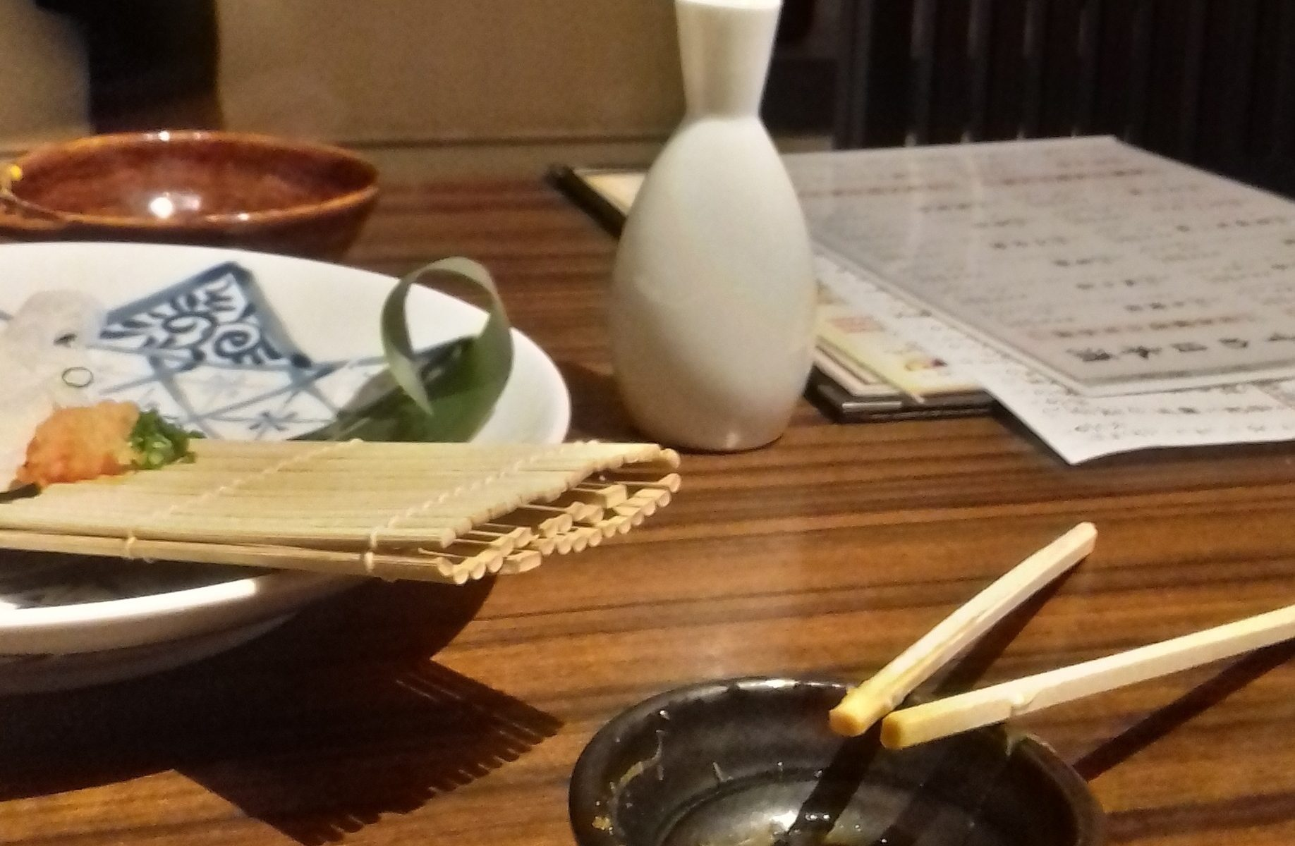 Sake and sashimi