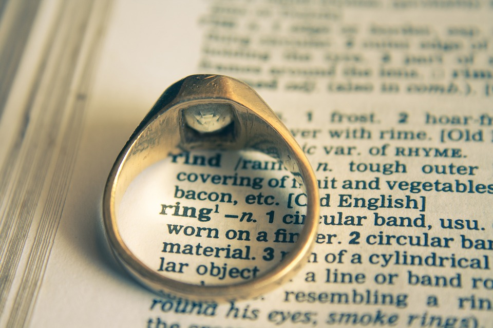 Ring on dictionary