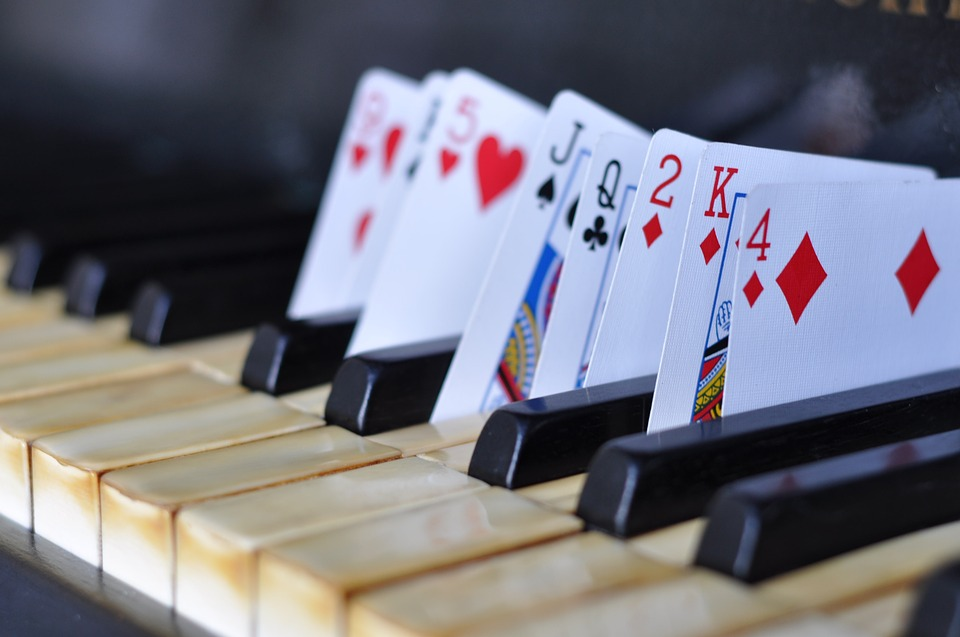 Piano card tricks